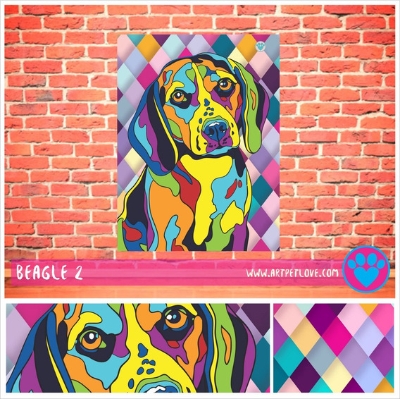 Cuadro Art Pet Love - Beagle 2.