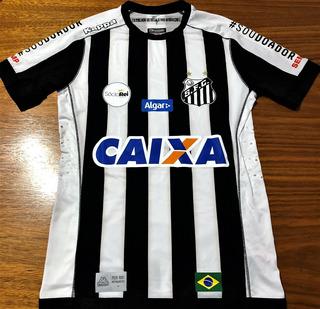 Camisa Santos Usada Jogo Brasileiro 2017 V. Hernandez #16