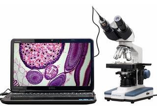 Microscopio Con Camara 40x-2500x 3d, Usb 5mp