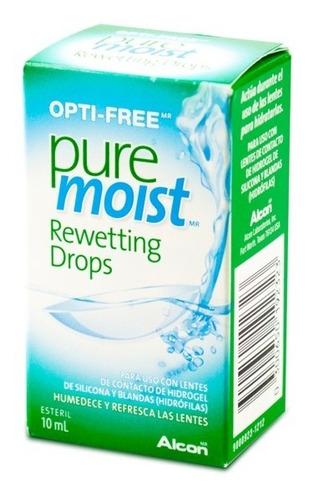 Imagen 1 de 2 de Optifree Pure Moist Rewetting Drops 10ml Solución Humectante