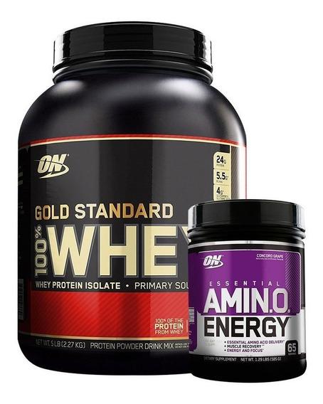 Whey Gold Standard 5 Lb + Amino Energy 1,29 Lb Optimum