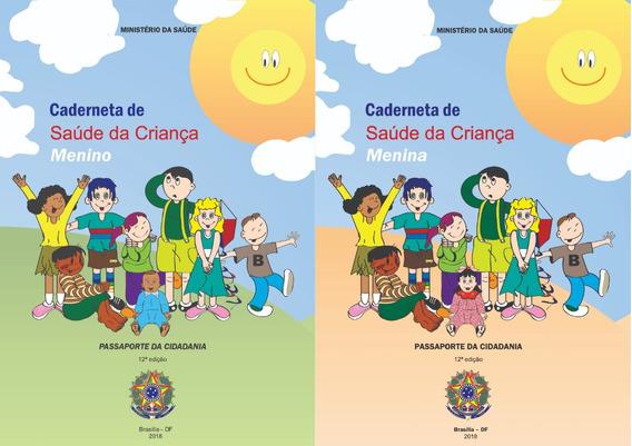 Impressão/encadernação Caderneta Vacina Menina/menino 2018