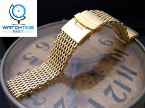 Pulseira Mesh Shark 18 Mm Interlock De R$ 299,00