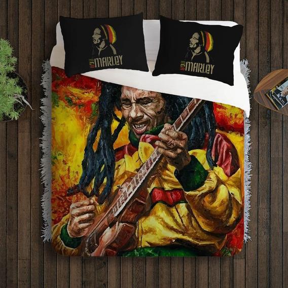 Edredon Bob Marley.Edredom Casal Reggae Bob Marley Casa Moveis E Decoracao No