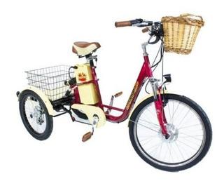 Bicicleta Triciclo Eletrico Super Luxo Retro Suspensão Disco