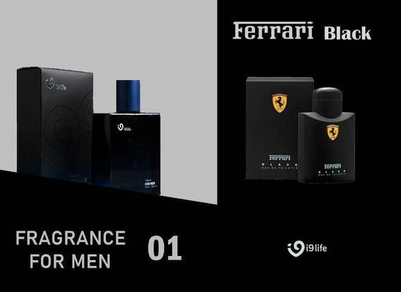 Perfume Masculino 01 I9life Original Inspirado Ferrari Black