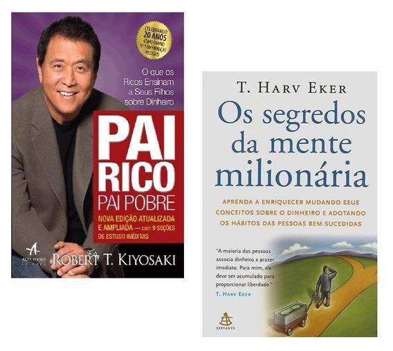 Kit Livros Pai Rico Pai Pobre + Segredos Mente Milionária !