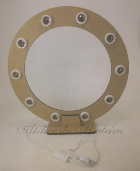 Moldura Redonda Camarim Ring Light 40cm Com 8 Bocal E Fiação
