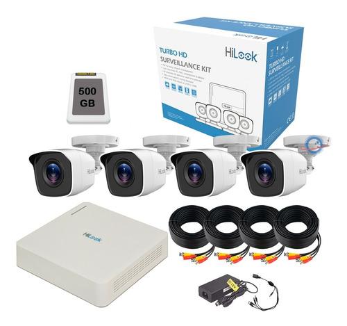 Imagen 1 de 6 de Kit 4 Camaras Vigilancia Seguridad Dvr Cctv 1 Mp 720p 500gb