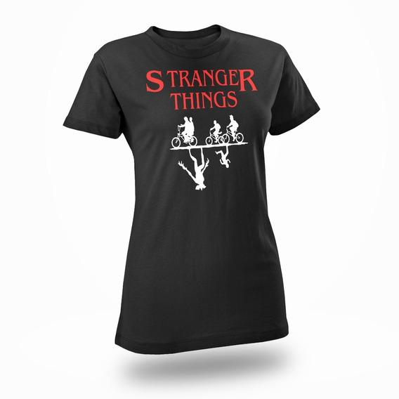 Playera Stranger Things Unisex Dos Mundos