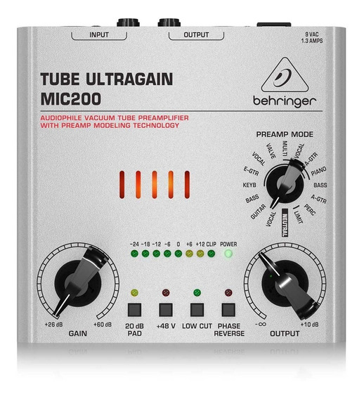 Pré Amplificador Behringer Mic-200 Ultra Gain Voltagem 110v