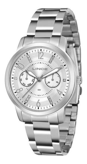Relógio Lince Feminino Lmmj070l S2sx Multifunção Prateado