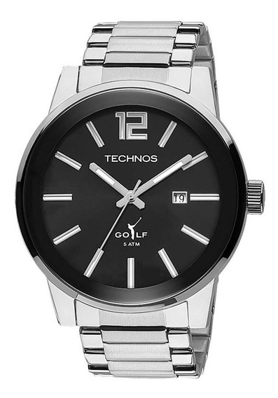 Relógio Technos Masculino Golf 2115tu/1p Prateado Classic