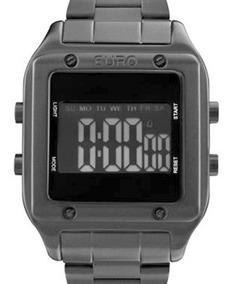 Relógio Euro Feminino Eug2510ac/4p Quadrado Preto - Nfe