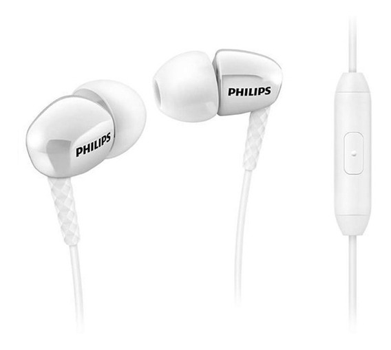 Fone Ouvido Philips She-3905 She 3905 Ñ She3900 Micrf Branco