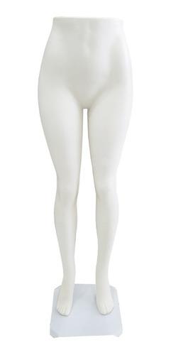 Maniquí Piernas De Mujer Plástico Femenino Color Blanco