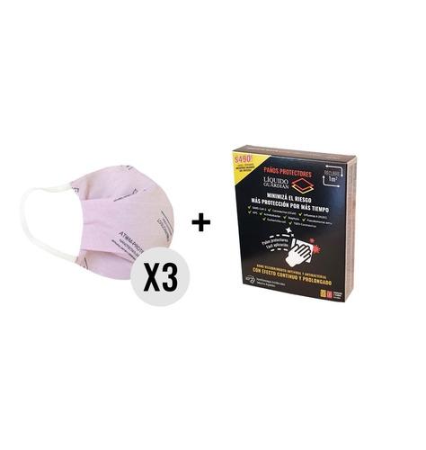 Atom-protect Conicet X 3 + Toallas Liquido Guardian X 1