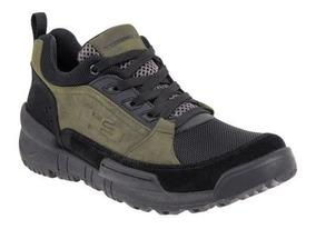 Zapato Hiker Hummer 61dp Verde Con Negro 825644