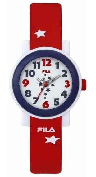 Reloj Fila 38-202-012 Caucho Rojo Analógico Quartz Original