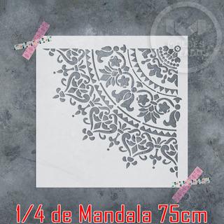 Molde Vazado Stencil Para Pintura E Texturas Mandala 75cm