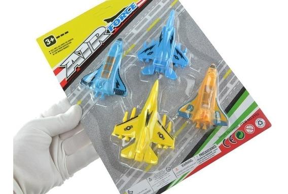 Brinquedo Cartela Com 8 Aviões Diversos E Coloridos