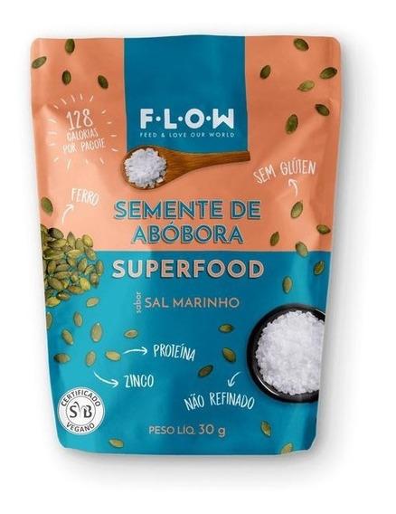 Snack De Semente De Abóbora Sabor Sal Marinho 30g - Flow