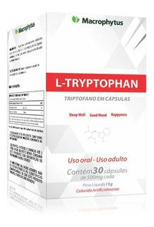 L-tryptophan 500mg 30 Caps - Anti Depressivo Natural