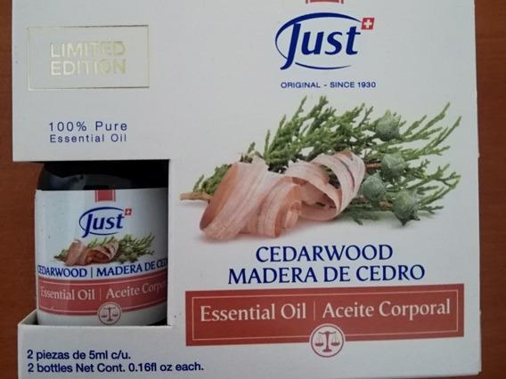 Dúo De Aceites Esenciales Just. Madera De Cedro Y Mandarina
