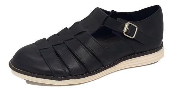 Zapato Cuero Con Hebilla Zuca