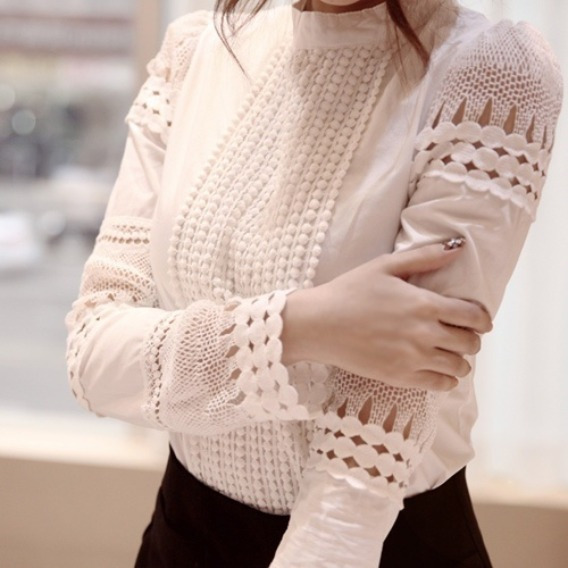 Blusas Camisa Feminina Slim Branca Luxo Importada