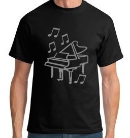 Camiseta Piano De Cauda Masculino