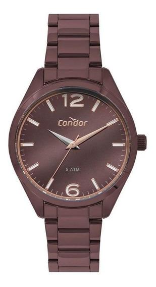 Relógio Condor Feminino Co2036muc/k4m Kit Colar E Brinco