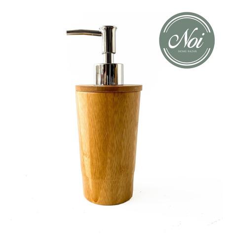 Dispenser Jabon Liquido Alcohol Baño Cocina Detergente Bambu