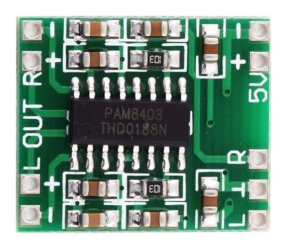 2-mini Amplificador Digital 2x3w De 2,5v A 5v - Pam8403