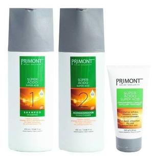 Primont Súper Ácido Shampoo + Enjuague + Máscara 150gr