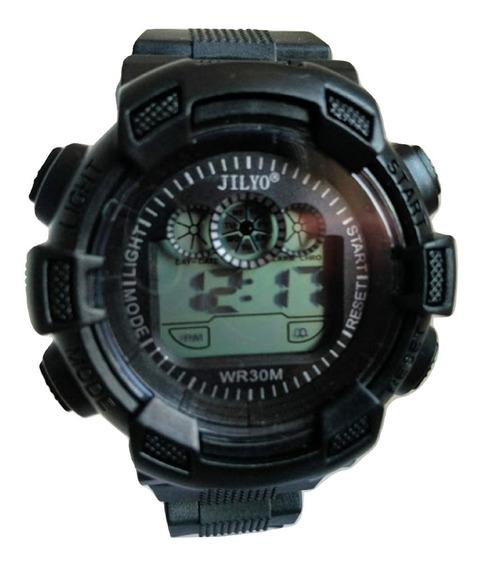 Relógio Digital Esporte Militar Masculino Alarme Lindo+caixa