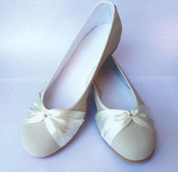 Zapatos Novia Casamiento Comunion Fiesta Blanco Crema
