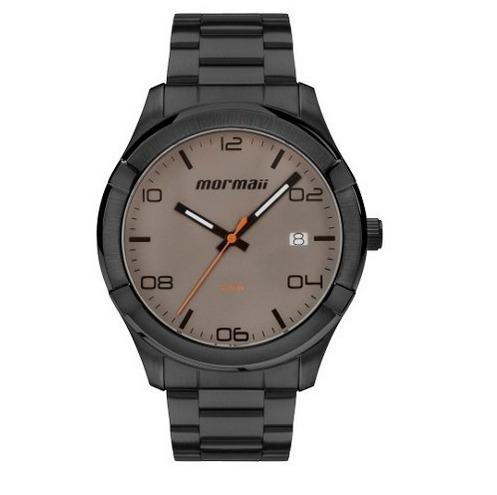 Relógio Masculino Mormaii Preto Em Aço Mo2415ag/4c