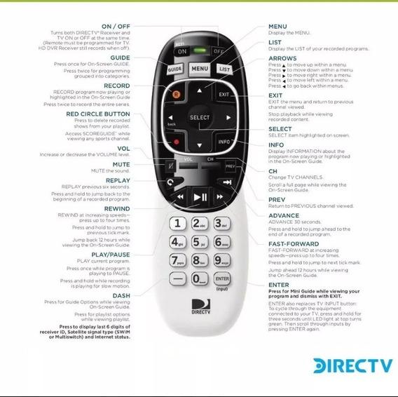 Control Remoto Para Directv Rc71h Rc72h Y Rc73h