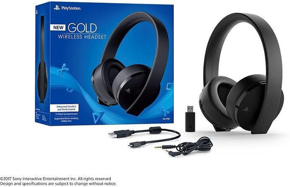 Headset New Gold Wireless Sony Playstation 3 E 4