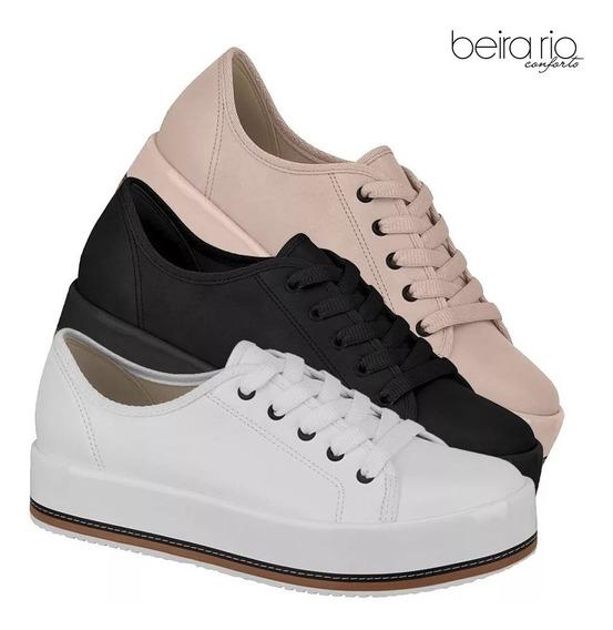 Tenis Feminino Flatform Beira Rio Conforto Original 41941102