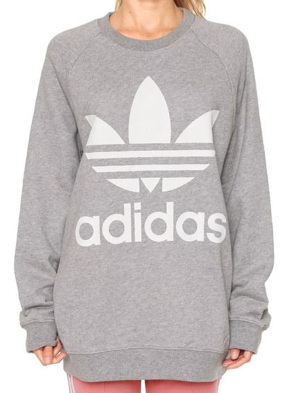 Buzo Lifestyle adidas Oversized Sweat Mujer Dh3125 In