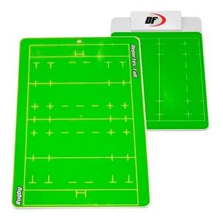 Pizarra Táctica De Rugby Df Ambos Lados Entrenador Tecnicos