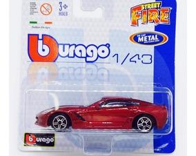 Miniatura De Corvette Stingray 2014 Street Fire 1:43 Burago