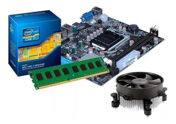 Kit Processador I7 3770 3.9 Ghz + Placa Mãe H61 +cooler Novo