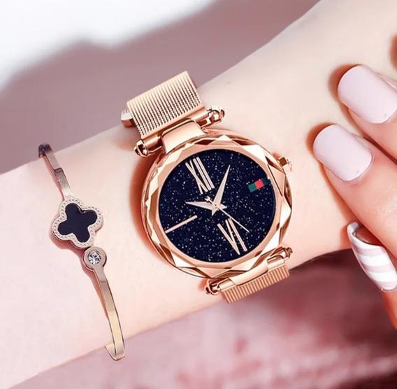 Relógio Feminino Em Aço Inox À Prova D