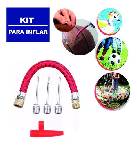 Kit Acessórios Para Bomba De Ar Bicos Encher Bolas 5 Peças