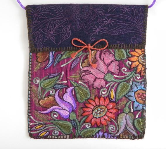 Bolsa En Bordado De Flores Artesanal Chiapaneco, Artes #13