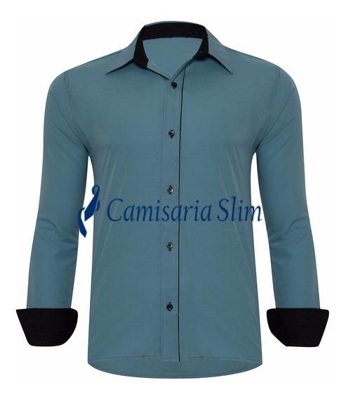 Camisa Blusa Slim Fit Masculina Pronta Entrega Frete Grátis