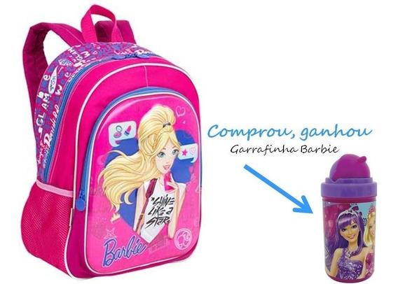 Mochila Barbie 17x Sestini + Brinde 064750